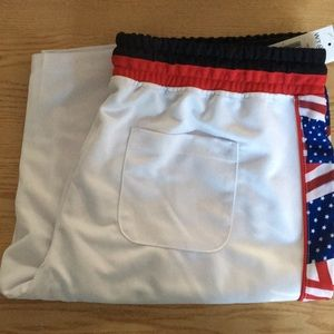 New Men's Patriotic American Flag Shorts Size XXL